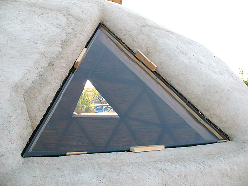 Papercrete dome glass