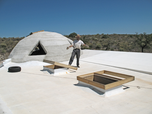 earthship skylight hoppers