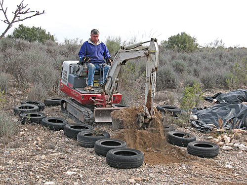 tyres and mini diggers