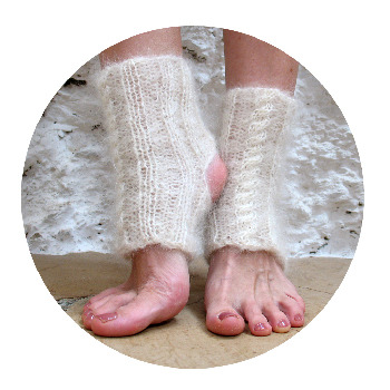 Earthships In Spain Fluffy Clouds Yoga Socks Knitting Pattern